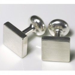 Cufflinks, 925 silver, squares