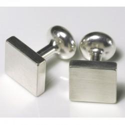 Manschettenknöpfe, 925- Silber, Quadrate