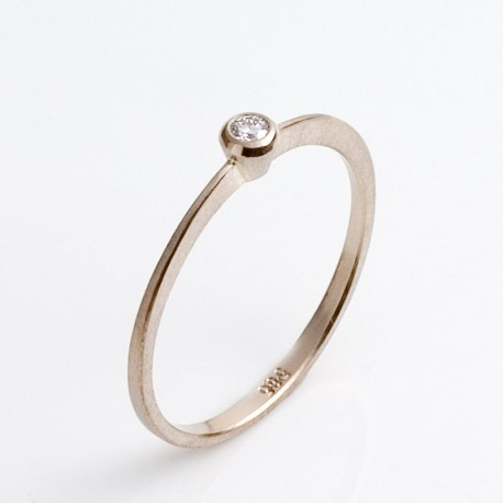 Ring, 585 Weißgold, Brillant 0,04 ct