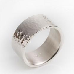 Ring, 925- Silber, Hammerschlag