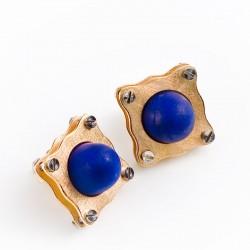 Ohrstecker, 750- Gold, Lapislazuli