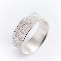 Ring, concave, 925 silver