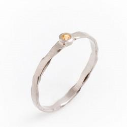 Ring, 950 Palladium, Mandaringranat