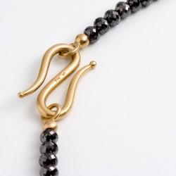 Schwarze Diamantkette, 750- Gold