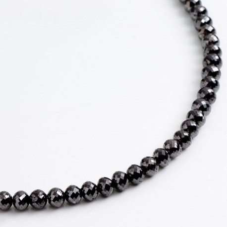 Heavy black diamond necklace, 750 gold