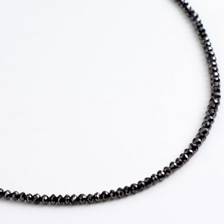 Black diamond chain, 750 gold