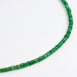 Necklace, tsavolite, 585 gold