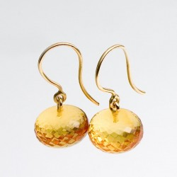Earrnings, 750- gold, amber