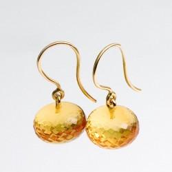 Earrnings, 750- gold, amber