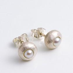 Ohrstecker, Böbl, 925- Silber, Perlen
