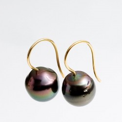 Drop earrings, Tahiti pearls, 750 gold