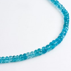Necklace, apatite, 750 gold