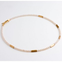 Necklace, pearls, 750- gold