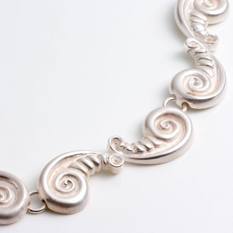 Baroque shell necklace made of 925 silver