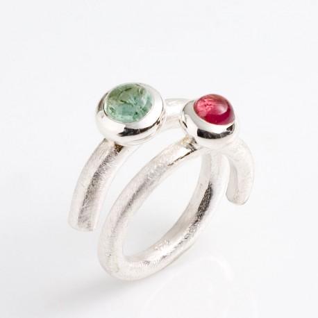 Ring, Lollipop, 925- Silber, Turmaline
