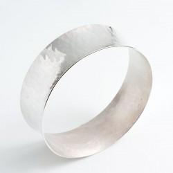 Bangle, 925- silver, concave