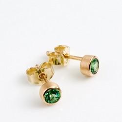 Stud earrings, 585 gold, tsavolithe