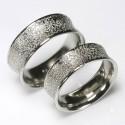 Concave wedding rings, 950 palladium grain