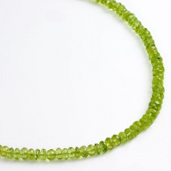 Necklace, peridot, 925- silver