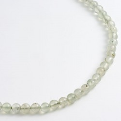Necklace, prehnite, 925- silver