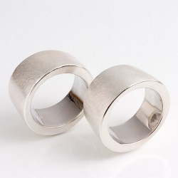 Partner rings, 925 silver, bones