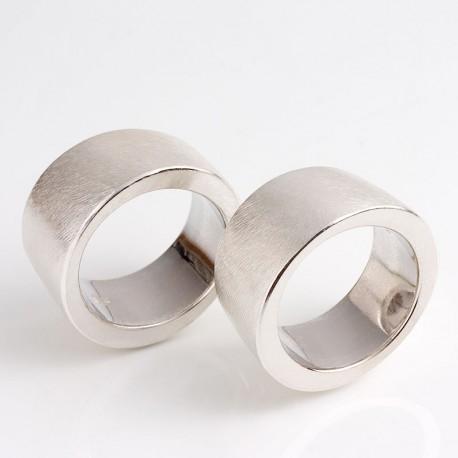 Partnerringe, 925- Silber, asymmetrisch