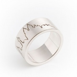 Cologne skyline ring with stadium, 925- silver