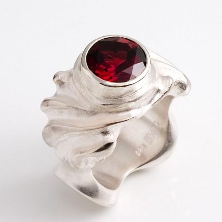 Ring, 925- Silber, Granat