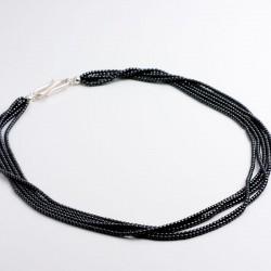 Necklace / bracelet, hematin, 925- silver