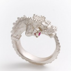 Ring, 925 Silver, 585 Gold, Tourmaline