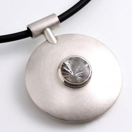 Anhänger, 925- Silber, Rutilquarz