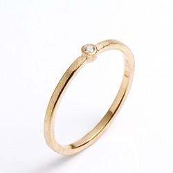 Ring, 585 Weißgold oder 750- Gelbgold, Brillant 0,02 ct