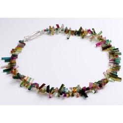 Tourmaline necklace, 925 silver