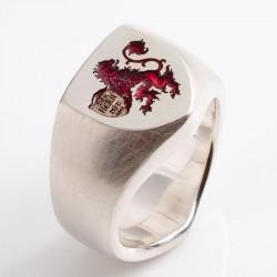 Kundenauftrag: Siegelring, 925 Silber, Wappen
