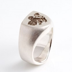 Customer order: signet ring, 925 silver, coat of arms
