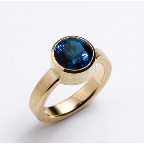 Ring, 750- Gold, blauer Turmalin