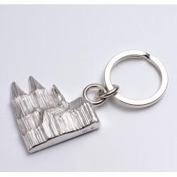 Anstecker Kölner Dom, rund, 925- Silber weiß