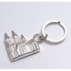 Keyring, Cologne cathedral relief, 925- silver
