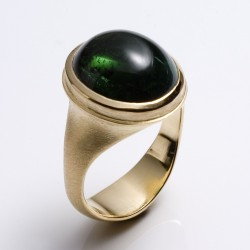Ring, 750- gold, tourmaline