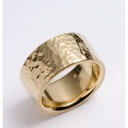 Ring, 750 gold, hammer blow