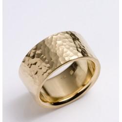 Ring, 750- Gold, Hammerschlag