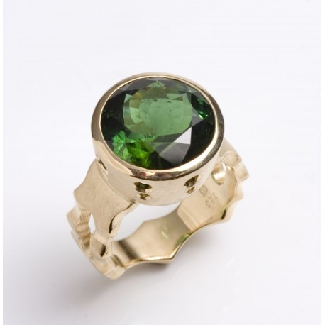 Maharadja ring, 750- Gold, tourmaline