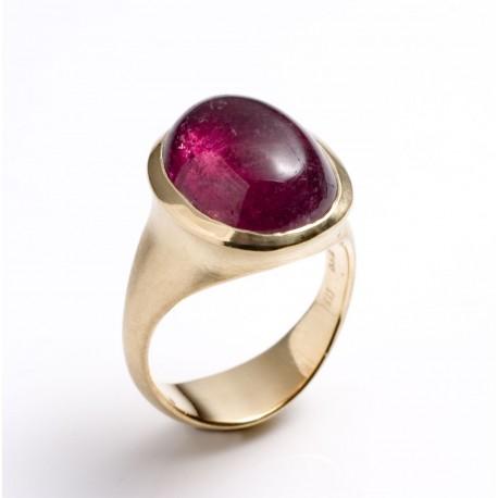 Ring, 750- Gold, rosa Turmalin