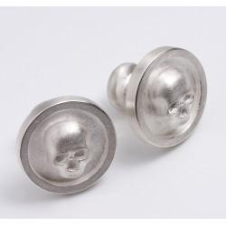 Manschettenknöpfe, 925- Silber, Totenkopf