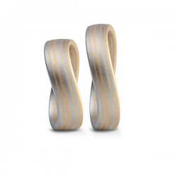 Mokume-Gane wedding rings