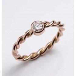 Ring, 585- Rotgold, Brillant, 0,25 ct
