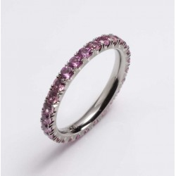 Ring, 600 platinum, pink sapphires
