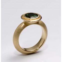 Ring, 750 gold, chromediopside