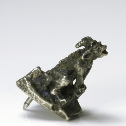 Badge, gargoyle, 925 silver
