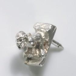 Anstecker, kleiner Wasserspeier, 925- Silber